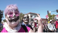 Huge 300lb Antifa clown says she uses clown makeup to evade facial recognition systems...: Huge 300lb Antifa clown says she uses clown makeup to evade facial recognition systems...