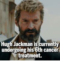 Memes, Hugh Jackman, and Cancer: Hugh Jackman is currently  undergoing his 6th cancer  treatment. Where's your healing factor when you need it 😞 Follow @dcfact