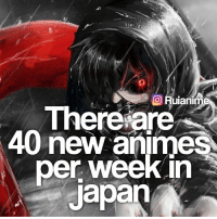 QOTD: Last anime you watched? | Follow @ruianime for Anime Facts | 🌟: Hulanime  There are  40 new anime  per week in  Japan QOTD: Last anime you watched? | Follow @ruianime for Anime Facts | 🌟