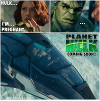 Gladiator, Hype, and Memes: HULK...  ITM...  PREGNANT.  IG GDC.MARVEL UNITE  PLANET  COMING SOON! Deleted Scene from Avengers : AgeofUltron ! 😱 Here's the real reason Hulk is in Space Fighting as a Gladiator in ThorRagnarok. 😂 Comment Below if you liked the whole romance between TheHulk and BlackWidow and if you'd like to see it continue in InfinityWar ! MarvelCinematicUniverse 💥 MCU HYPE