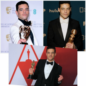 Oscar, BAFTA, Golden Globe. Congrats Rami Malek on bagging the treble! 🙌🏻: hulu  WARD  s1 Oscar, BAFTA, Golden Globe. Congrats Rami Malek on bagging the treble! 🙌🏻