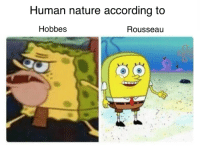 Non Existent Existentialist, Rousseau, and Human Nature: Human nature according to  Hobbes  Rousseau