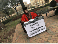 Savage, Change, and Humanity: Humanity  is a cruel  and savage race  CHANGE MY MIND Q