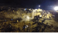 Hundreds of people have been brutalized tonight and are continuing to be. This is state sanctioned. All of it: Mace, rubber bullets, percussion grenades, they took a water hose in 15 degree weather and doused HUNDREDS. An elder went into cardiac arrest and is in critical condition after being hit with a rubber bullet. THIS is what America is about. THIS is what Indigenous people have experienced for hundreds of years so that people in the U.S. can enjoy ice cubes, Black Friday shopping, and all of the things capitalism convinces us we need but actually don't (like the Dakota Access Pipeline.)   REMEMBER you are on stolen Native land, built on stolen labor from Black folx.   HONOR that.   COME to Standing Rock and support the Standing Rock Sioux Tribe as they, and we all together say #NoDAPL. Nothing is worth this on this NO THANKS, NO GIVING holiday. Nothing.: Hundreds of people have been brutalized tonight and are continuing to be. This is state sanctioned. All of it: Mace, rubber bullets, percussion grenades, they took a water hose in 15 degree weather and doused HUNDREDS. An elder went into cardiac arrest and is in critical condition after being hit with a rubber bullet. THIS is what America is about. THIS is what Indigenous people have experienced for hundreds of years so that people in the U.S. can enjoy ice cubes, Black Friday shopping, and all of the things capitalism convinces us we need but actually don't (like the Dakota Access Pipeline.)   REMEMBER you are on stolen Native land, built on stolen labor from Black folx.   HONOR that.   COME to Standing Rock and support the Standing Rock Sioux Tribe as they, and we all together say #NoDAPL. Nothing is worth this on this NO THANKS, NO GIVING holiday. Nothing.