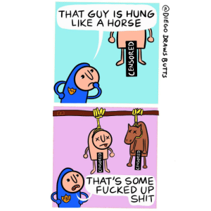 Hung like a horse [OC]: Hung like a horse [OC]
