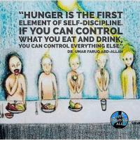 "Ali, Facebook, and Memes: ""HUNGER IS THE FIRST  ELEMENT OF SELF-DISCIPLINE.  IF YOU CAN CONTROL  WHAT YOU EAT AND DRINK  YOU CAN CONTROL EVERYTHING ELSE?  DR.UMAR FARUQ ABD-ALLAH  HOLISTIC  ALI Follow ➡️ @holisticali Another voice over video in the swipe PLEASE LIKE TAG AND REPOST!! This is instruction on how to fast. The best type of Fast is fasting two days a week, Mondays and Thursday, and once a year we do a 1 month Fast for Ramadan, that's a Full month of Spiritual evolution. 🔴- The scientists say that fasting cures more than one hundred disease! Such as high blood pressure, diabetic, chronic asthma, respiratory diseases, heart diseases, Arteriosclerosis‏, many liver diseases and skin diseases such as allergy and the chronic eczema. - Recent scientists had studied the healing effects of fasting and they concluded that fasting is the best method for treating the accumulated poisons in the cells! Fasting has many magnificent effects as it preserves our cells and is considered to be the most successful method to eliminate different diseases, viruses and bacteria. In fact there are many centers in some western countries that perform healing by fasting!! Despite the failure of modern medicine to treat some cases, fasting succeeded to treat these cases so Allah Almighty orders us to fast as He Almighty says: (And that you fast, it is better for you if only you know) {Sûrat Al-Baqarah- The Cow-verse 184}. 🔴 COMMENT BELOW IF YOU FAST! HolisticAli Fasting HowToFast Ramadan IG 👉🏽 @holistic.ali FACEBOOK-YOUTUBE-SNAPCHAT 👉🏽 @holisticali SUBSCRIBE TO NEW YOUTUBE LINK IN BIO"