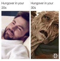 Dad, Dank, and 🤖: Hungover in your  20s  Hungover in your  30s  THE DAD
