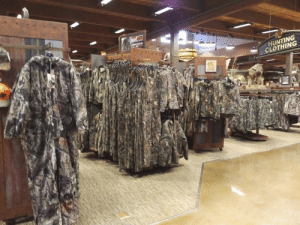 This store was completely sold out of everything: HUNTING  CLOTHING This store was completely sold out of everything