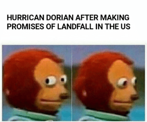 All hyped up....: HURRICAN DORIAN AFTER MAKING  PROMISES OF LANDFALL IN THE US All hyped up....