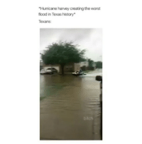 Honestly if i was in Texas id go to school with a boat: Hurricane harvey creating the worst  flood in Texas history*  Texans  bitch Honestly if i was in Texas id go to school with a boat
