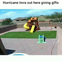 Af, Funny, and Lmao: Hurricane Imra out here giving gifts Lmao im weak af lol HoodClips