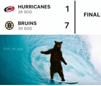 patrice bergeron is a god and cam ward has a 0% save percentage that is all: HURRICANES  28 SOG  1  FINAL  BRUINS  30 SOG  7  @nhl ref logic patrice bergeron is a god and cam ward has a 0% save percentage that is all