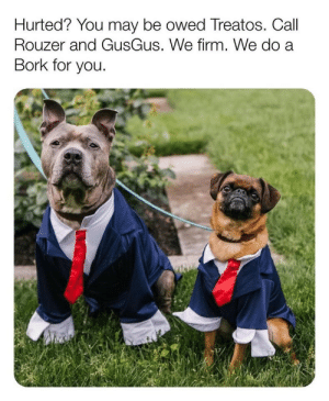 They're here for you!: Hurted? You may be owed Treatos. Call  Rouzer and GusGus. We firm. We do a  Bork for you. They're here for you!