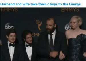 emmys: Husband and wife take their 2 boys to the Emmys  EMMYS  EMMYS  abc