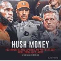 HUSH MONEY  BILL SIMMONS BELIEVES LAVAR BALL WAS PAID TO STAY QUIET  ABOUT LEBRON JAMES, LAKERS  VIA MIKE FRANCESA/WFAN SPORTS RADIO Bill Simmons believes LaVar Ball was paid to be quiet about LeBron James coming to the Lakers. 😱