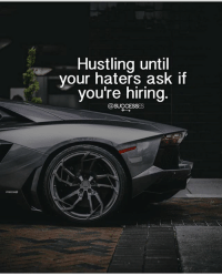 Memes, 🤖, and Ask: Hustling until  your haters ask if  youre niring Can't wait for that day? Agree?! successes