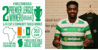 """Arsenal, Celtic, and Community: HWELCOMEKOLO  PART OF THE  ARSENAL  INVINCIBLE  3 FA CUP COMMUNITY SHIELD WINNER  rior pla  1 1 8 353 ein  PL APPS  IVORY COAST CAPS  KOLO KOLO KOLO  KOLO KOLO KOLO KOLO  CUP OF NATIONS  KOLO TOURE""""  CHAMPION 2015  dafabet Celtic have completed the signing of Kolo Touré on a one-year deal."""