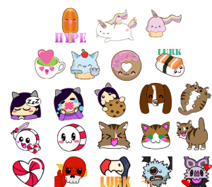 CandiWare: Twitch Emote Commissions: HYPE  LURK  ZzZ  LURK CandiWare: Twitch Emote Commissions