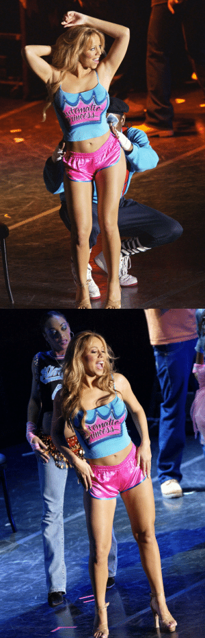 hypersexualsportswear:Mariah Carey on the Charmbracelet World Tour, 2003: hypersexualsportswear:Mariah Carey on the Charmbracelet World Tour, 2003