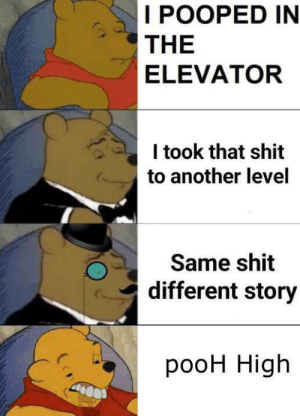 Meme, Reddit, and Shit: IРООРED IN  THE  ELEVATOR  I took that shit  to another level  Same shit  different story  рoон High This meme is getting outta control