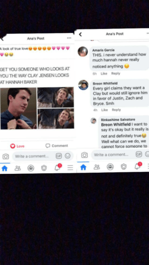I'm in a 13 Reasons Why fan group on facebook (I know, I'm soooo lame), and it was talking about the two main characters of season one (Clay and Hannah). Then, this guy shows up. Not mad, I just thought it was funny.: I'm in a 13 Reasons Why fan group on facebook (I know, I'm soooo lame), and it was talking about the two main characters of season one (Clay and Hannah). Then, this guy shows up. Not mad, I just thought it was funny.