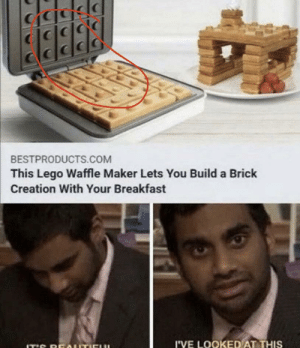 I've seen this post a few times... look closely at the iron and the waffle...: I've seen this post a few times... look closely at the iron and the waffle...