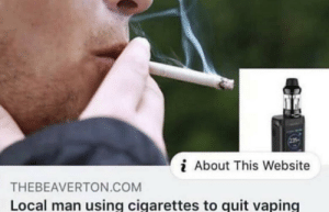 Greek Philosophers create Irony (300BC): i About This Website  THEBEAVERTON.COM  Local man using cigarettes to quit vaping Greek Philosophers create Irony (300BC)