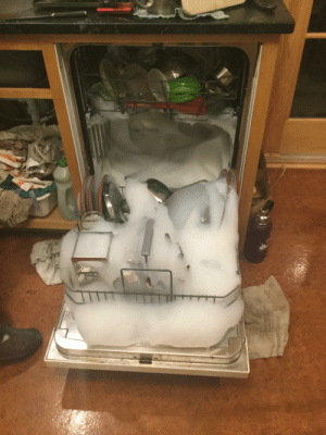 I accidentally used dish soap in the dishwasher: I accidentally used dish soap in the dishwasher