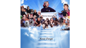 i added pewdiepie to harambe heaven meme in advance so fellow 19 year olds wouldn't have to carry the burden of doing so when the time comes: i added pewdiepie to harambe heaven meme in advance so fellow 19 year olds wouldn't have to carry the burden of doing so when the time comes