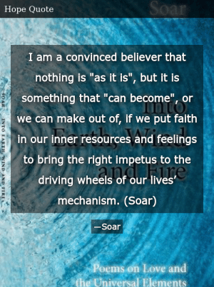 Soar-Into Earth, Wind and Fire: Poems on Love and the