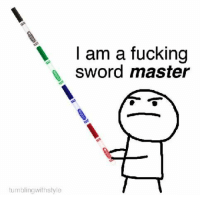 Fucking, Lit, and Memes: I am a fucking  sword master  tumblingwithstyle awesome 17+ LIT Memes That Are Kickass