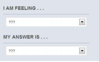 Answer, Feeling, and I Am: I AM FEELING...  ?22  MY ANSWER IS...  ?7?