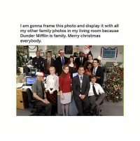 y'all this is goals shop link in bio or ➵ theoffice.af 🎅🏻🎄❄️‬: I am gonna frame this photo and display it with all  my other family photos in my living room because  Dunder Mifflin is family. Merry christmas  everybody. y'all this is goals shop link in bio or ➵ theoffice.af 🎅🏻🎄❄️‬