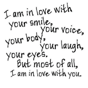 https://iglovequotes.net/: I am in love with  your smile,  your voice,  your body  your laugh,  your eyes  But most of all,  am in love with you https://iglovequotes.net/