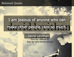 SIZZLE: I am jealous of anyone who can make other people care so much.