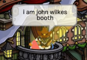 President Abraham Lincoln is assassinated at Ford Theater in Washington, D.C. (1865, Colorized): i am john wilkes  booth  ५G/40 4918  148 President Abraham Lincoln is assassinated at Ford Theater in Washington, D.C. (1865, Colorized)