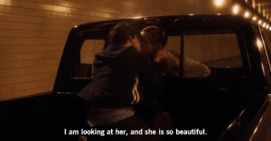 Beautiful, Her, and Net: I am looking at her, and she is so beautiful. https://iglovequotes.net/