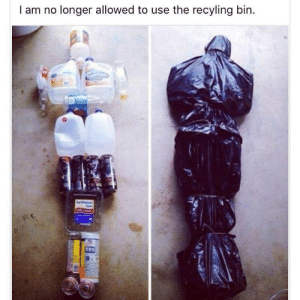 It Just Makes It Easier to Put Everything in One Bag Before Throwing it Out: I am no longer allowed to use the recyling bin  arth  CIAN  ORGANIC It Just Makes It Easier to Put Everything in One Bag Before Throwing it Out