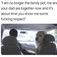 """Punk ass kid: """"I am no longer the family pet, me an  your dad are together now and it's  about time you show me some  fucking respect"""" Punk ass kid"""