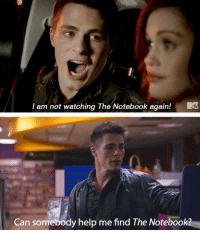 Notebook, Tumblr, and Best: I am not watching The Notebook again!  Can somebody help me find The Notebook? silly-luv:  ♡ find your best posts on my blog ♡