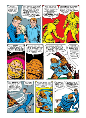 I am reading the first edition of Fantastic Four from 1961, and Ben Grimm turns out to be a NiceGuy.: I am reading the first edition of Fantastic Four from 1961, and Ben Grimm turns out to be a NiceGuy.
