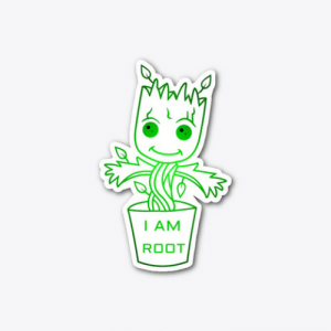 programmerhumour:this sticker for your laptop: I AM  ROOT programmerhumour:this sticker for your laptop
