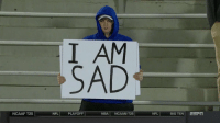 When it's Sunday and there's no football on, and there won't be for a very long time https://t.co/uyNHZBZS3o: I AM  SAD  NCAAF T25  NFL PLAYOFF  NBA NCAAM T25  NFL  BIG TEN ESFT When it's Sunday and there's no football on, and there won't be for a very long time https://t.co/uyNHZBZS3o