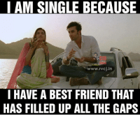 Memes, The Gap, and 🤖: I AM SINGLE BECAUSE  www.rvcj in  HAVE A BEST FRIEND THAT  HAS FILLED UP ALL THE GAPS Yeah, filled that gap of benefits 😂
