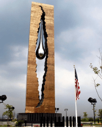 """I am so shocked that this """"Tear Drop"""" 9-11 memorial exists right across from NYC and yet we do not hear about it. This is a 100-foot tall monument given to the U.S. back in 2006 by the Russian people in memory of all those that lost their lives on 9-11. The breaking in the cracked facade forms the shape of the two towers. The giant suspended tear drop symbolizes all the tears the world had shed in response to this terrifying day. Absolutely beautiful. It is located in Bayonne, New Jersey, which is just on the other side of the water near the Statue of Liberty. It is a shame that such a beautiful memorial is given barely any attention and I think it should be shown every year around this time. Feel free to share this post to your walls! - - Shared from Instagram - follow at: @charlesfhappeliv: I am so shocked that this """"Tear Drop"""" 9-11 memorial exists right across from NYC and yet we do not hear about it. This is a 100-foot tall monument given to the U.S. back in 2006 by the Russian people in memory of all those that lost their lives on 9-11. The breaking in the cracked facade forms the shape of the two towers. The giant suspended tear drop symbolizes all the tears the world had shed in response to this terrifying day. Absolutely beautiful. It is located in Bayonne, New Jersey, which is just on the other side of the water near the Statue of Liberty. It is a shame that such a beautiful memorial is given barely any attention and I think it should be shown every year around this time. Feel free to share this post to your walls! - - Shared from Instagram - follow at: @charlesfhappeliv"""