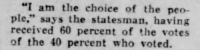 "Tumblr, Blog, and Http: ""I am the choice of the peo-  ple,"" says the statesman, having  received 60 percent of the votes  of the 40 percent who voted.  95 yesterdaysprint:  El Paso Herald, Texas, October 13, 1928"