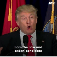 """Trump claimed to be the """"law and order"""" candidate — so how's that working out for him?: I am the law and  order candidate Trump claimed to be the """"law and order"""" candidate — so how's that working out for him?"""