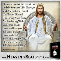 """Jesus is the Source of our life! http://www.tlig.org/en/messages/1149/: """"I am the Root of the Tree of Life  and the Source of Life,Ihave got  with Me both the Fruit of  The Tree of Life and  The Living Water from  My Everlasting Wells  come then to Me,  come and have your  fill come and eat;  come and drink  from My Living Water,  all you who thirst  I shall never deny you;  HEAVEN ISREAL  September 20, 1989  HEAVEN ISREAL Book  .COM Jesus is the Source of our life! http://www.tlig.org/en/messages/1149/"""