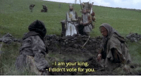 Louie XVI before being guillotined (1793) (colorized): -I am your king.  I didn't vote for you. Louie XVI before being guillotined (1793) (colorized)