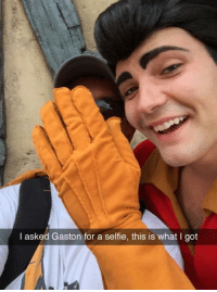 -Iceprincess: I asked Gaston for a selfie, this is what I got -Iceprincess